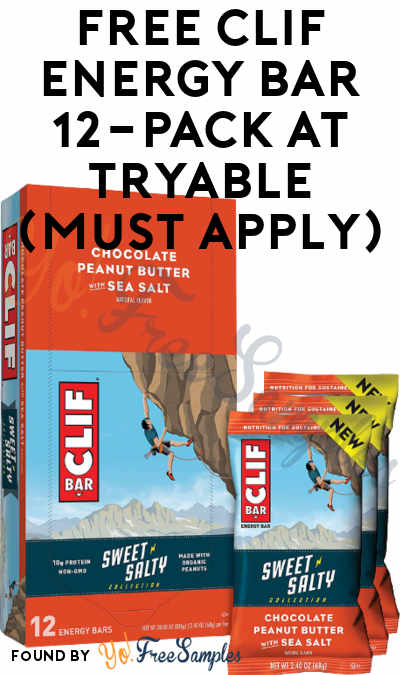 FREE CLIF Energy Bar 12-Pack At Tryable (Must Apply)
