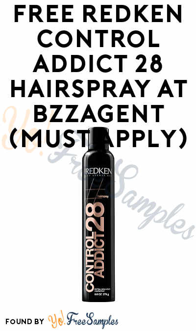 FREE Redken Control Addict 28 Hairspray At BzzAgent (Must Apply)