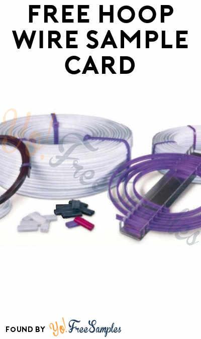 FREE Hoop Wire Sample Card