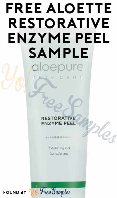 FREE Aloette Restorative Enzyme Peel Sample