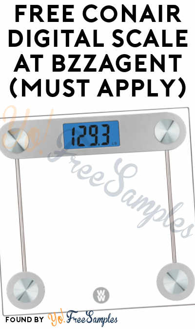 FREE Conair Digital Scale At BzzAgent (Must Apply)