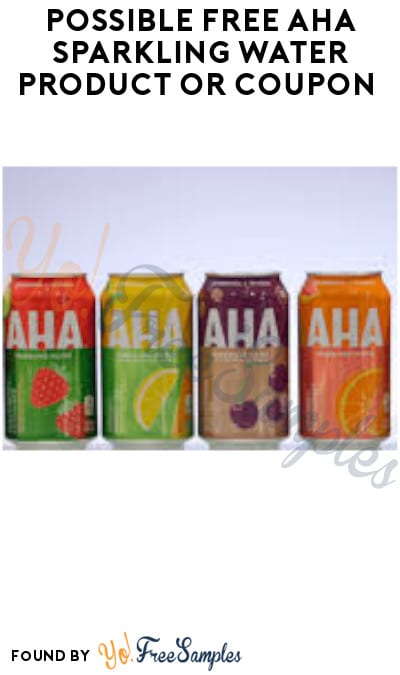 Possible FREE AHA Sparkling Water Product or Coupon