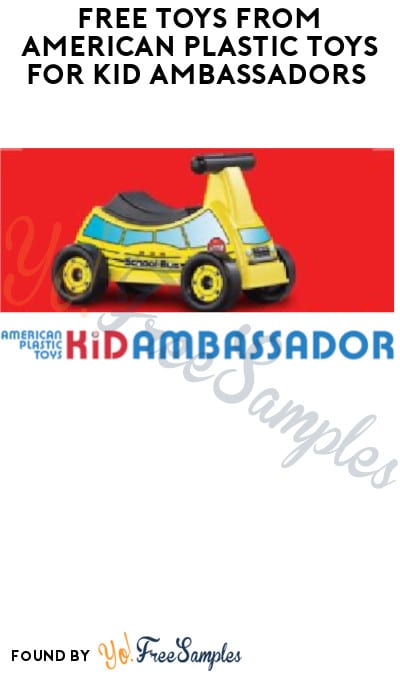 FREE Toys from American Plastic Toys for Kid Ambassadors (Must Apply)