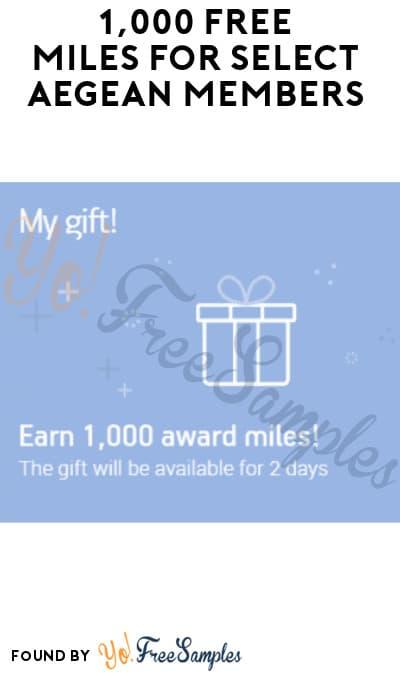 1,000 FREE Miles for Select Aegean Members