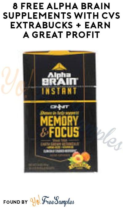 8 FREE Alpha Brain Supplements with CVS ExtraBucks + Earn A Great Profit