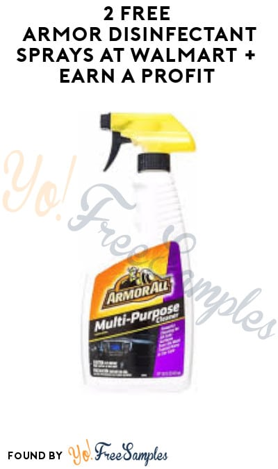 2 FREE Armor Disinfectant Sprays at Walmart + Earn A Profit (Swagbucks Required)
