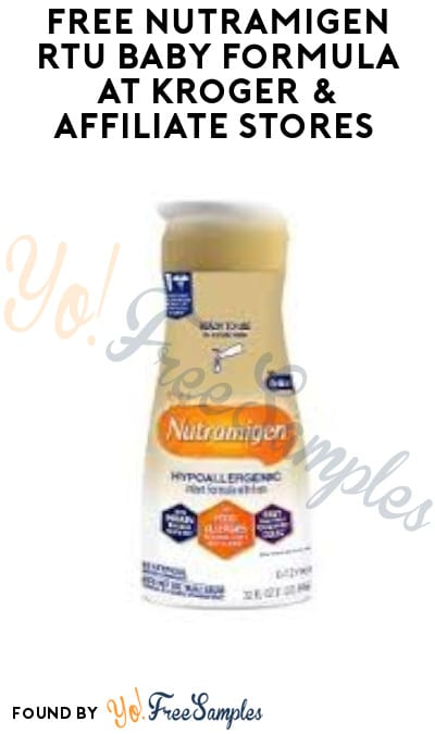 FREE Nutramigen RTU Baby Formula at Kroger & Affiliate Stores (Account/ Coupon Required)