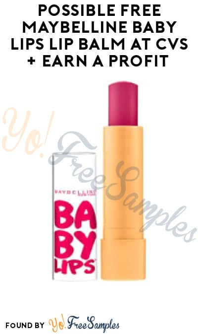 Possible FREE Maybelline Baby Lips Lip Balm at CVS + Earn A Profit (App/ Coupon Required)