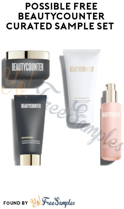 Possible FREE Beautycounter Curated Sample Set