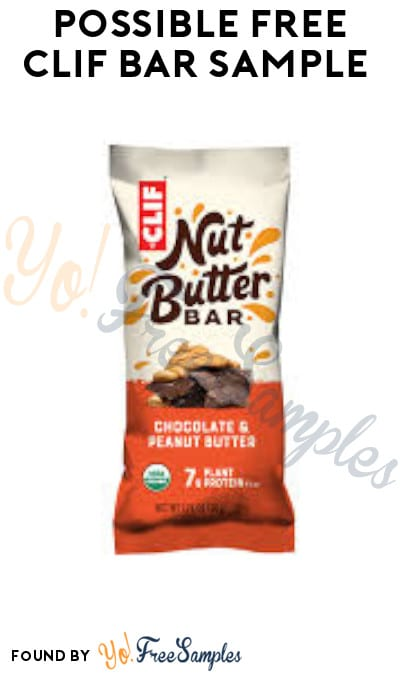 Possible FREE CLIF Bar Sample (Facebook Required)