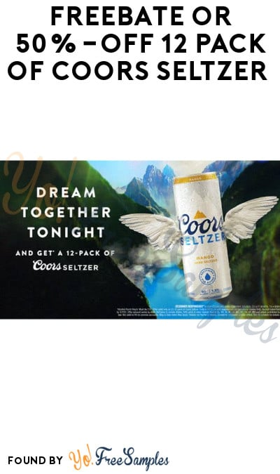 FREEBATE or 50%-Off 12 Pack of Coors Seltzer (21+ Only, Select States & Texting Required)