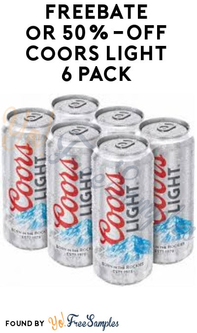 FREEBATE or 50%-Off Coors Light 6-Pack (21+ Only, Select States & Texting Required)