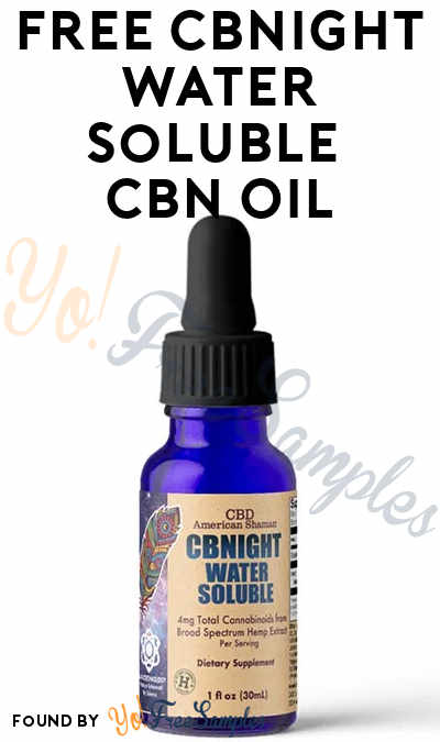 FREE CBNight Water Soluble CBN Oil