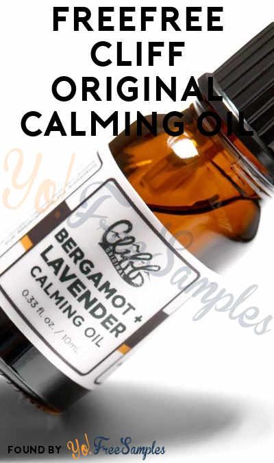 FREE Cliff Original Calming Oil