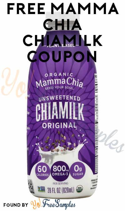 FREE Full-Size Mamma Chia Chiamilk Coupon