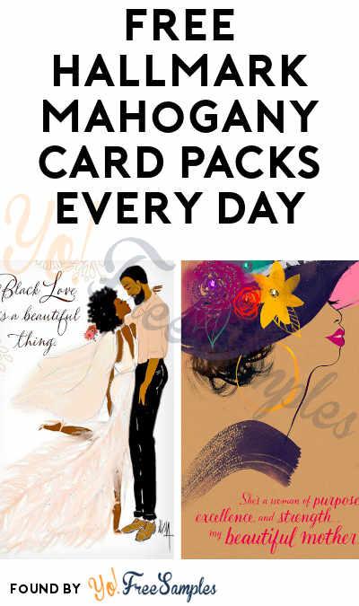 FREE Hallmark Mahogany Card Packs Every Day