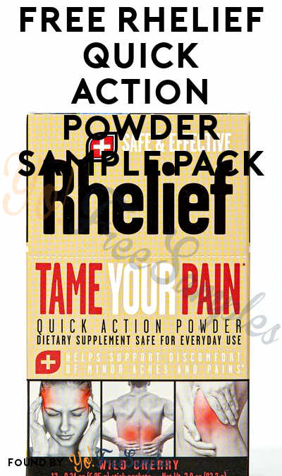 FREE Rhelief Quick Action Powder Sample Pack