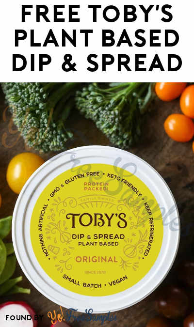 FREE Toby's Plant Based Dip & Spread