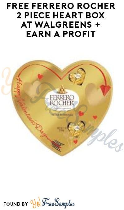 FREE Ferrero Rocher 2-Piece Heart Box at Walgreens + Earn A Profit (Clearance & Checkout51 Required)