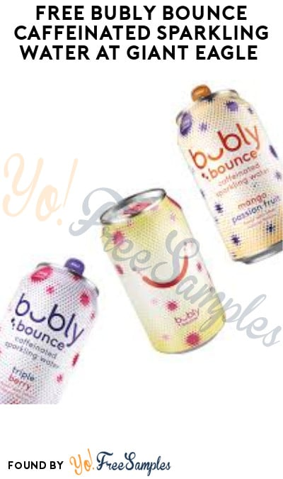 FREE Bubly Bounce Caffeinated Sparkling Water at Giant Eagle (Account/ Coupon Required)