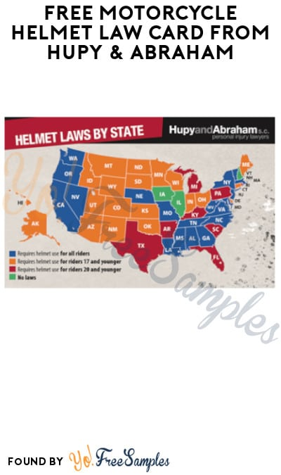 FREE Motorcycle Helmet Law Card from Hupy & Abraham (WI, IL & IA)