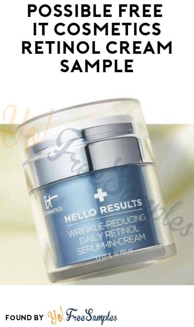 Possible FREE IT Cosmetics Retinol Cream Sample (Facebook Required)