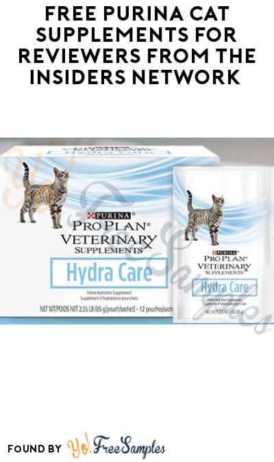 FREE Purina Cat Supplements for Reviewers from The Insiders Network (Must Apply)