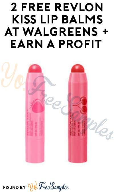 2 FREE Revlon Kiss Lip Balms at Walgreens + Earn A Profit (Rewards + Ibotta Required)