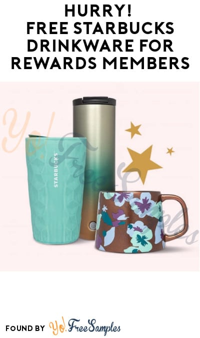 Possible FREE Starbucks Drinkware for Rewards Members (Select Accounts Only + Coupon Required)