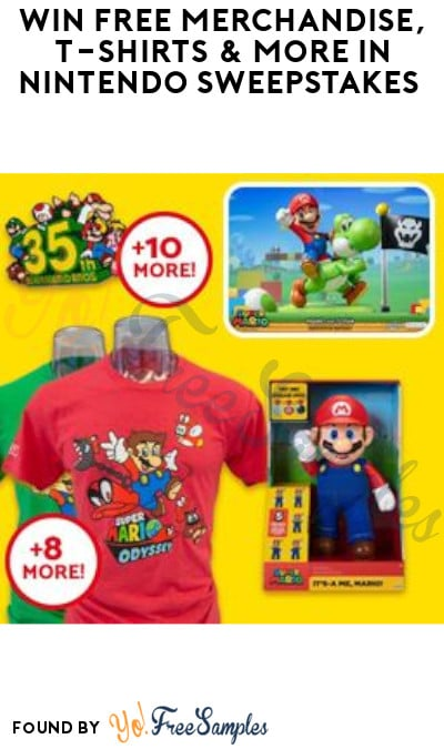 Win FREE Merchandise, T-Shirts & More in Nintendo Sweepstakes