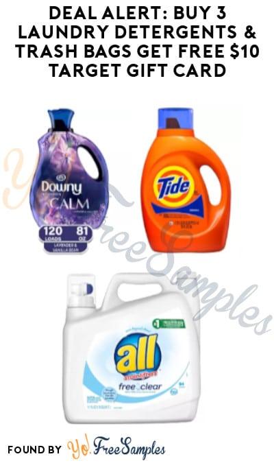 DEAL ALERT: Buy 3 Laundry Detergents & Trash Bags, Get FREE $10 Target Gift Card (Online Only)