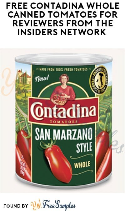 FREE Contadina Whole Canned Tomatoes for Reviewers from The Insiders Network (Must Apply)
