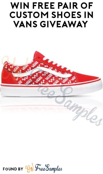 Win FREE Pair of Custom Shoes in Vans Giveaway