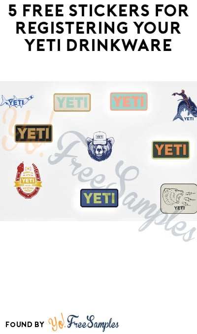 5 FREE Stickers for Registering Your YETI Drinkware