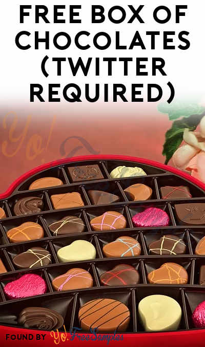 FREE Box of Chocolates (Twitter Required)