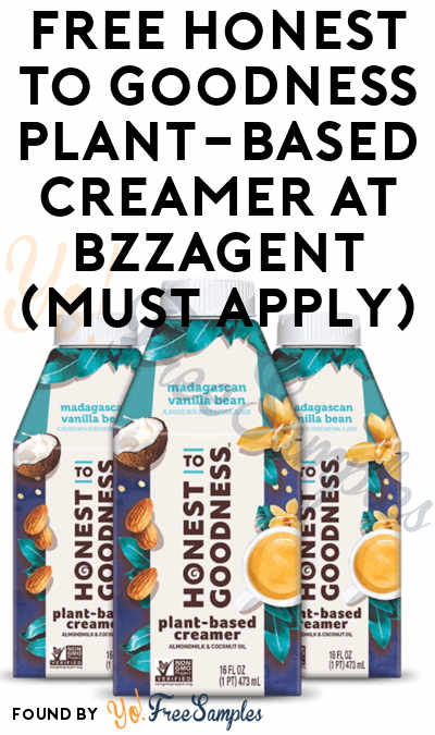 FREE Honest to Goodness Plant-Based Creamer At BzzAgent (Must Apply)