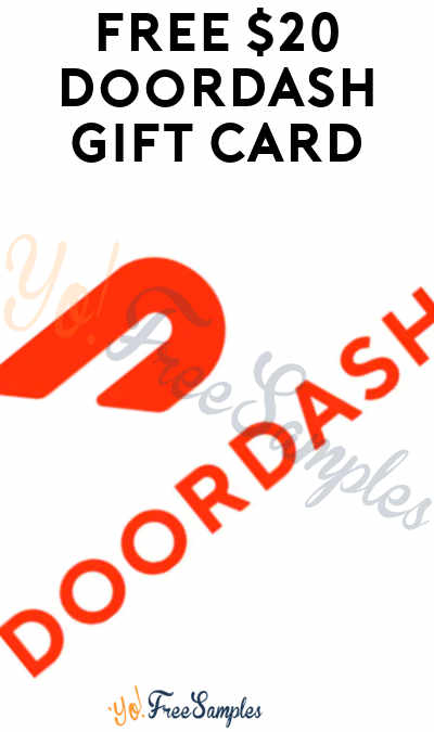 FREE $20 Doordash Gift Card (Twitter Required & Select Areas Only)