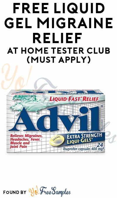 FREE Liquid Gel Migraine Relief At Home Tester Club (Must Apply)