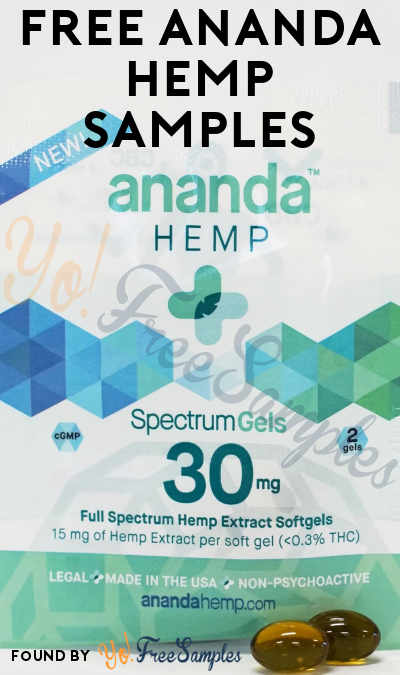 FREE Ananda Hemp Softgel Samples