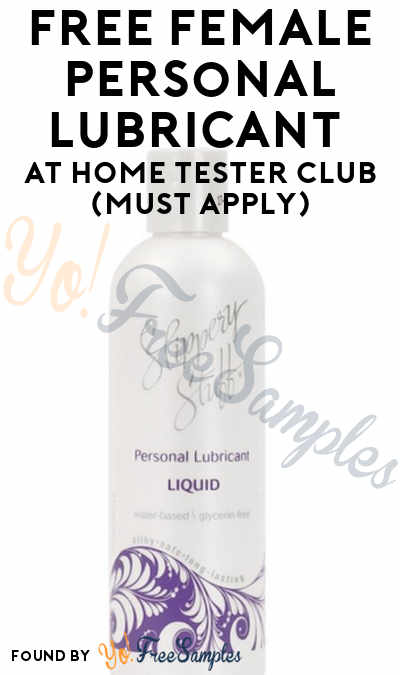 FREE Female Personal Lubricant At Home Tester Club (Must Apply)