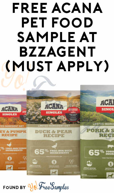 FREE Acana Pet Food Sample At BzzAgent (Must Apply)