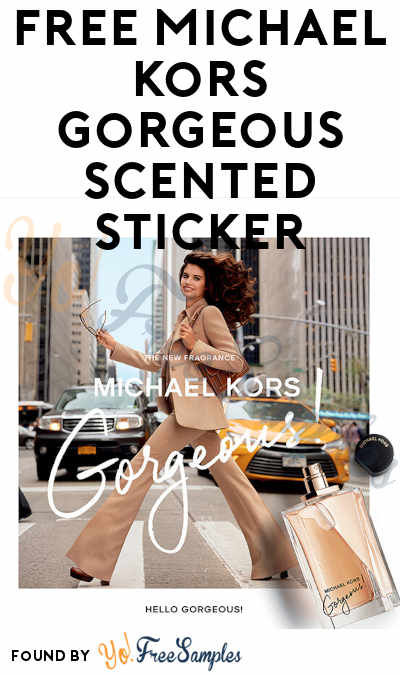 FREE Michael Kors Gorgeous Scented Sticker (Google or Amazon Device Required)