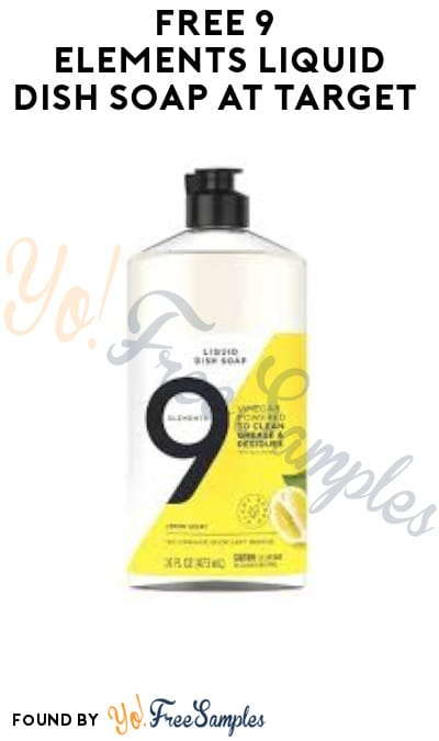 FREE 9 Elements Liquid Dish Soap at Target (Target Circle Required)