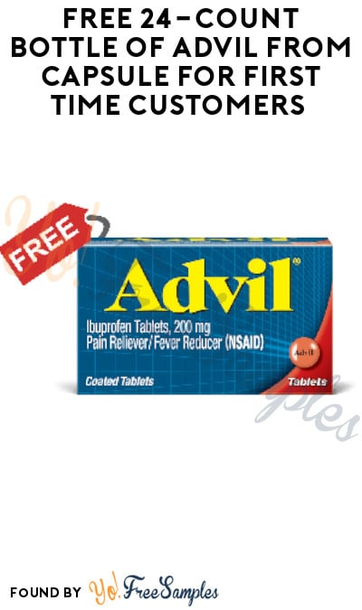 FREE 24-Count Bottle of Advil from Capsule for First Time Customers (New York City Only + Possible Surrounding Areas)