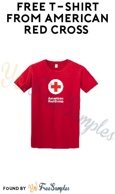 FREE T-Shirt from American Red Cross (Facebook Messenger Required)
