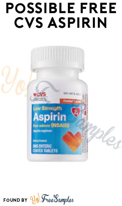 Possible FREE CVS Aspirin (App/ Coupon Required)