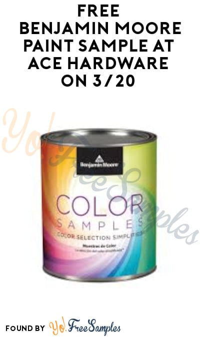 FREE Benjamin Moore Paint Sample at Ace Hardware on 3/20 (Rewards Required)