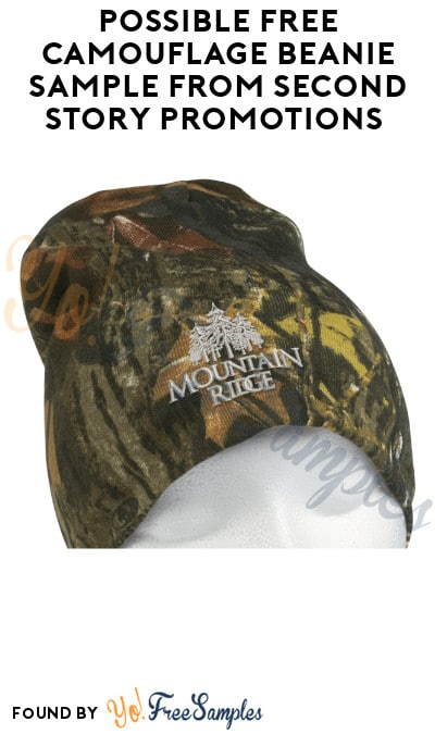 Possible FREE Camouflage Beanie Sample from Second Story Promotions (Company Name Required)