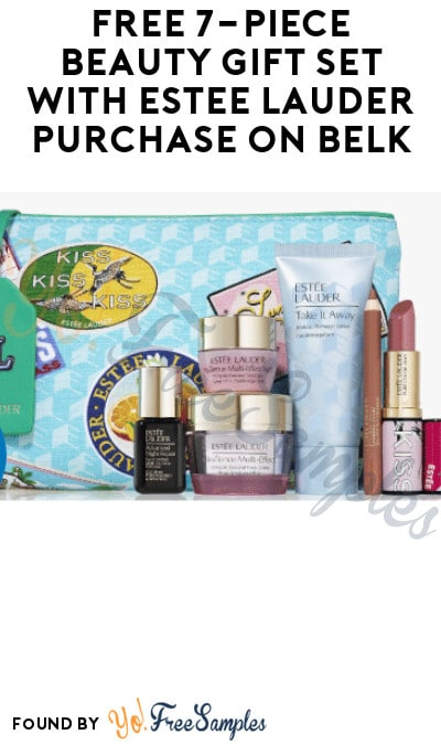 FREE 7-Piece Beauty Gift Set with Estee Lauder Purchase on Belk (Online Only)
