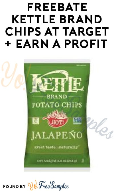 FREEBATE Kettle Brand Chips at Target + Earn A Profit (Coupons App Required)